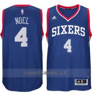 maglia nerlens noel #4 philadelphia 76ers 2014-2015 blu