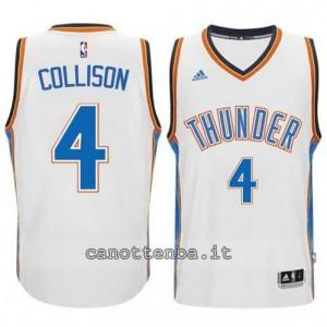 maglia nick collison #4 oklahoma city thunder 2014-2015 bianca
