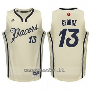maglia paul george #13 indiana pacers natale 2015 giallo