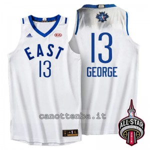 maglia paul george #13 nba all star 2016 bianca