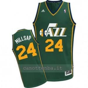 maglia paul millsap #24 utah jazz revolution 30 verde
