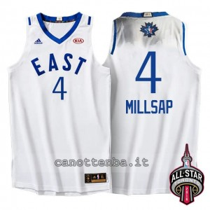 maglia paul millsap #4 nba all star 2016 bianca