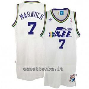 maglia pete maravich #7 utah jazz bianca