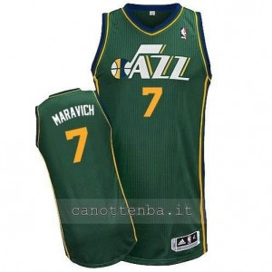 maglia pete maravich #7 utah jazz revolution 30 verde