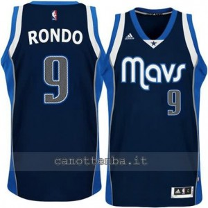 maglia rajon rondo #9 dallas mavericks alternato blu