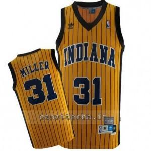 maglia reggie miller #31 indiana pacers striscia giallo