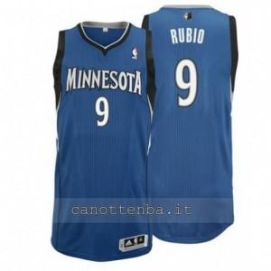 maglia ricky rubio #9 minnesota timberwolves revolution 30 blu