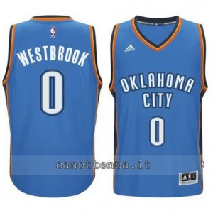 maglia russell westbrook #0 oklahoma city thunder 2014-2015 blu
