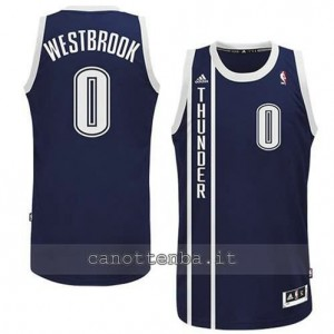 maglia russell westbrook #0 oklahoma city thunder alternato blu