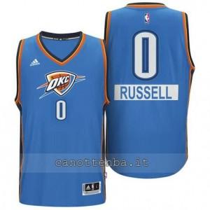 maglia russell westbrook #0 oklahoma city thunder natale blu
