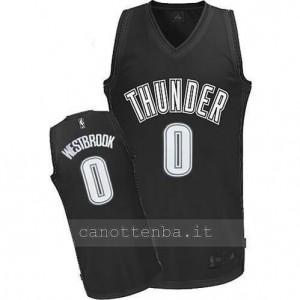 maglia russell westbrook #0 oklahoma city thunder nero