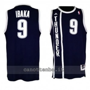 maglia serge ibaka #9 oklahoma city thunder alternato blu