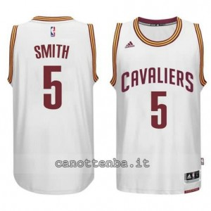 maglia smith #5 cleveland cavaliers 2014-2015 bianca