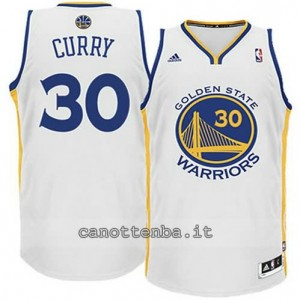 maglia stephen curry #30 golden state warriors revolution 30 bianca