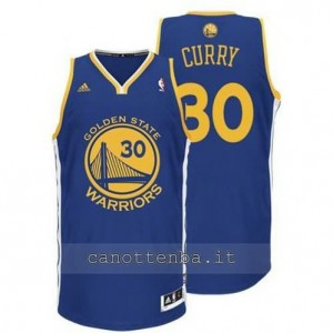 maglia stephen curry #30 golden state warriors revolution 30 blu
