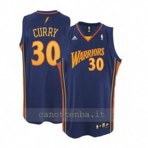 maglia stephen curry #30 golden state warriors swingman blu