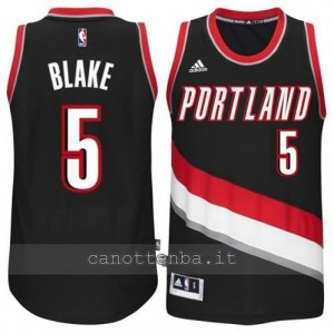 maglia steve blake #5 portland trail blazers 2014-2015 nero