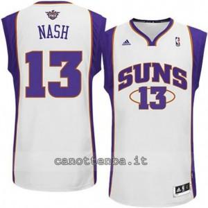 maglia steve nash #13 phoenix suns revolution 30 bianca