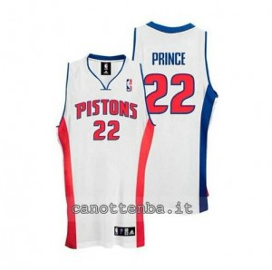 maglia tayshaun prince #22 detroit pistons bianca