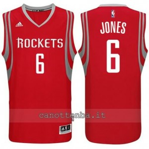 maglia terrence jones #6 houston rockets 2014-2015 rosso