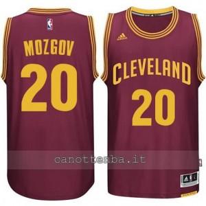 maglia timofey nozgov #20 cleveland cavaliers 2014-2015 rosso