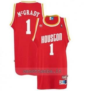 maglia tracy McGrady #1 houston rockets soul rosso