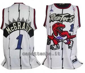 maglia tracy McGrady #1 toronto raptors bianca