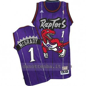 maglia tracy McGrady #1 toronto raptors porpora