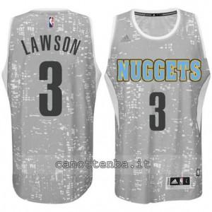 maglia ty lawson #3 denver nuggets lights grigio
