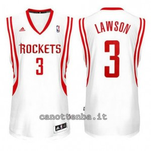 maglia ty lawson #3 houston rockets 2014-2015 bianca