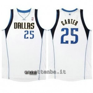 maglia vince carter #25 dallas mavericks revolution 30 bianca