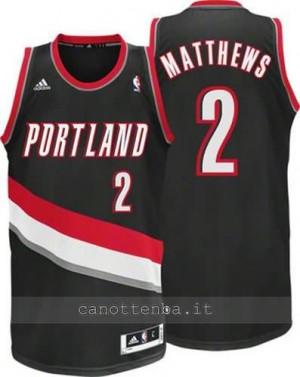 maglia wesley matthews #2 portland trail blazers revolution 30 nero