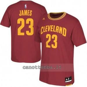 maglietta LeBron james #23 cleveland cavaliers rosso