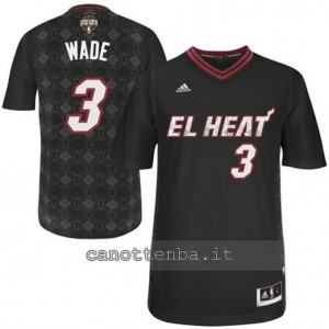 maglietta dwyane wade #3 miami heat nero
