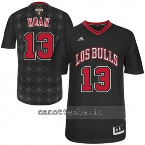 maglietta joakim noah #13 chicago bulls nero