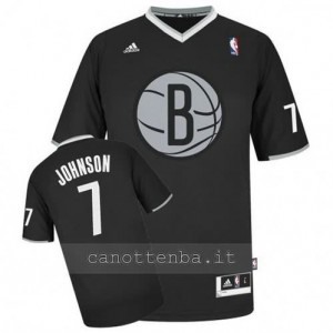 maglietta joe johnson #7 brooklyn nets nero