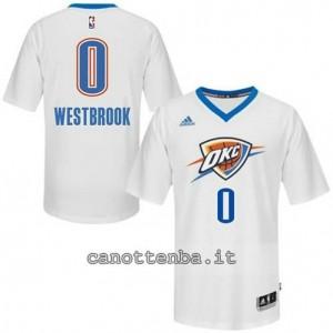 maglietta russell westbrook #0 oklahoma city thunder bianca