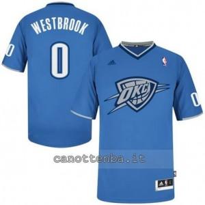 maglietta russell westbrook #0 oklahoma city thunder blu