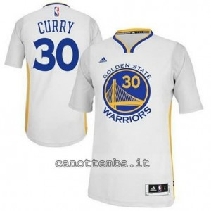 maglietta stephen curry #30 golden state warriors 2014-2015 bianca