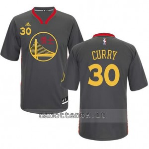 maglietta stephen curry #30 golden state warriors cinese nero
