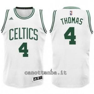 nuova maglia isiah thomas #4 boston celtics bianca