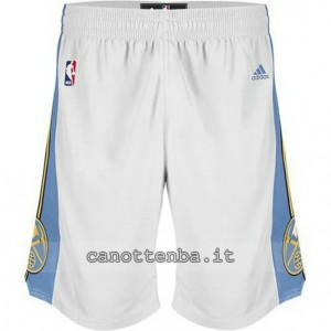 pantaloncini nba denver nuggets revolution 30 bianca