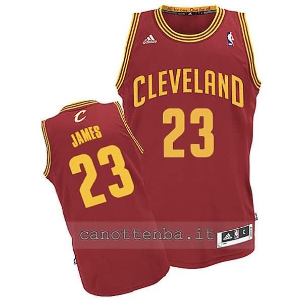 abbigliamento sportivo ad alte prestazioni più foto stati uniti maglia nba bambino cleveland cavaliers lebron james #23 rosso ...