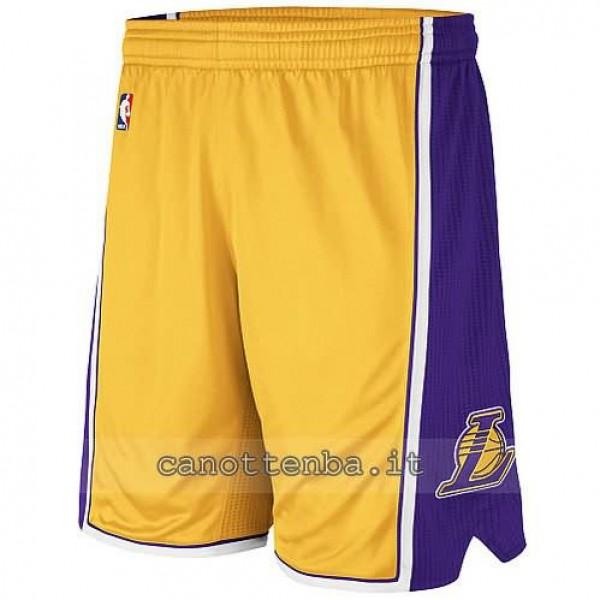 eccezionale gamma di stili designer nuovo e usato completo nelle specifiche pantaloncini nba los angeles lakers giallo
